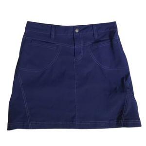 Athleta Womens Dark Blue Pull On Dipper Skirt 6